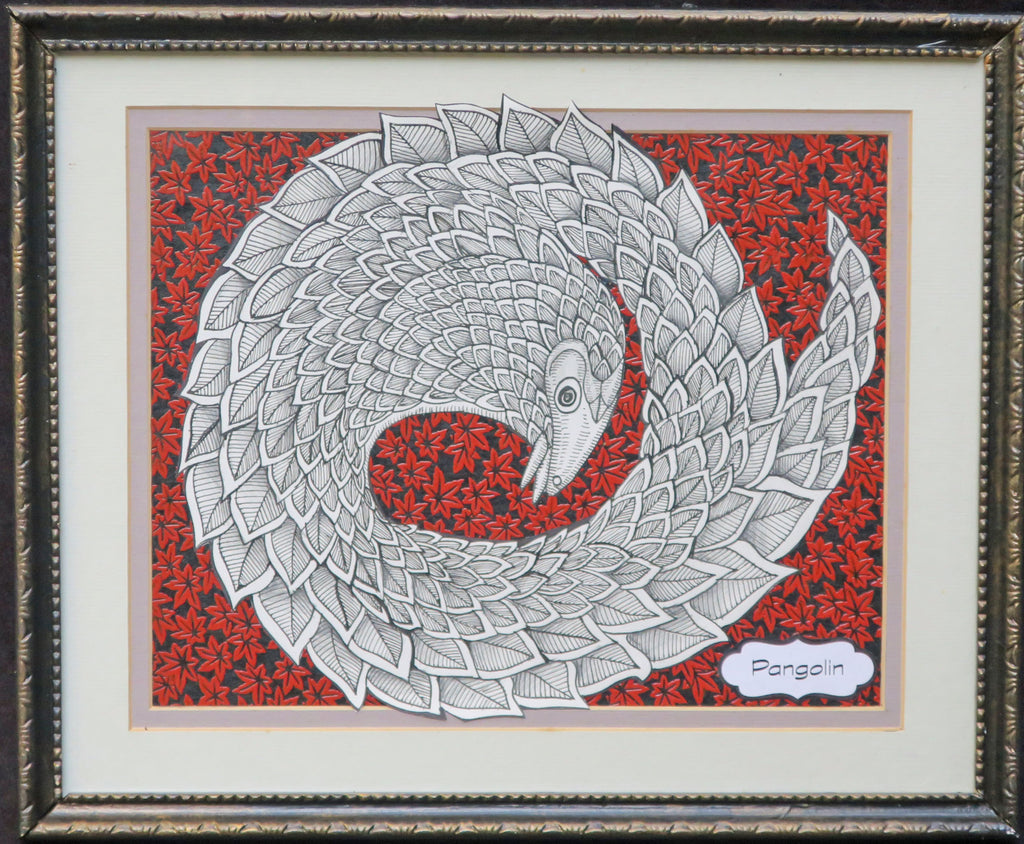 Pangolin Framed Original Illustration