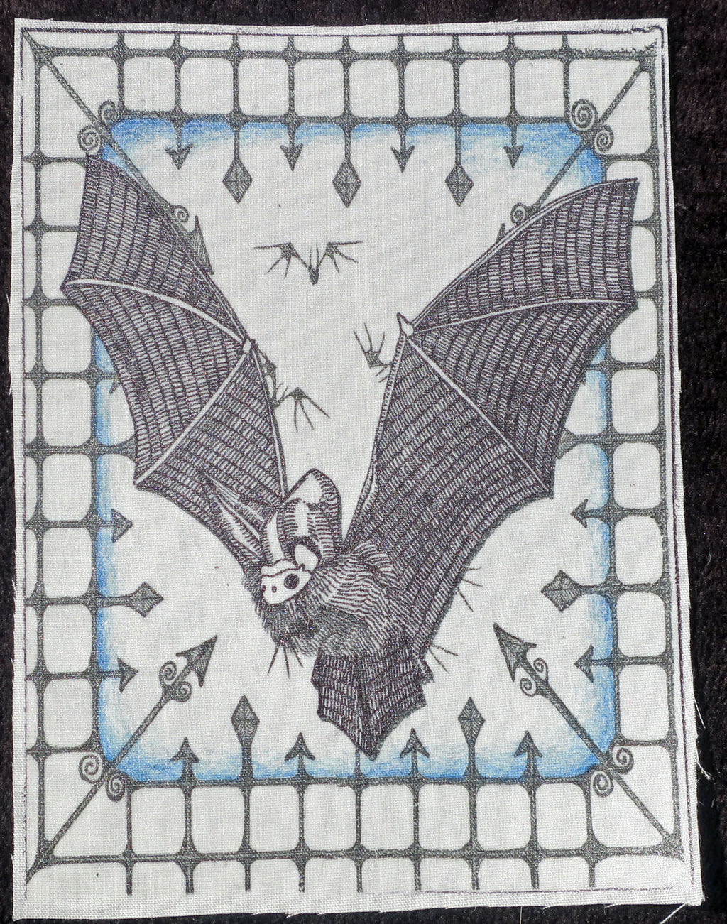 bat fabric patch
