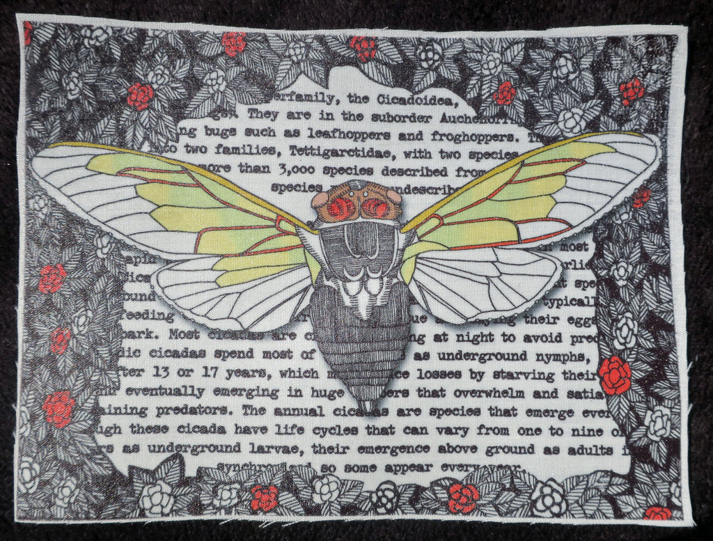 cicada fabric patch