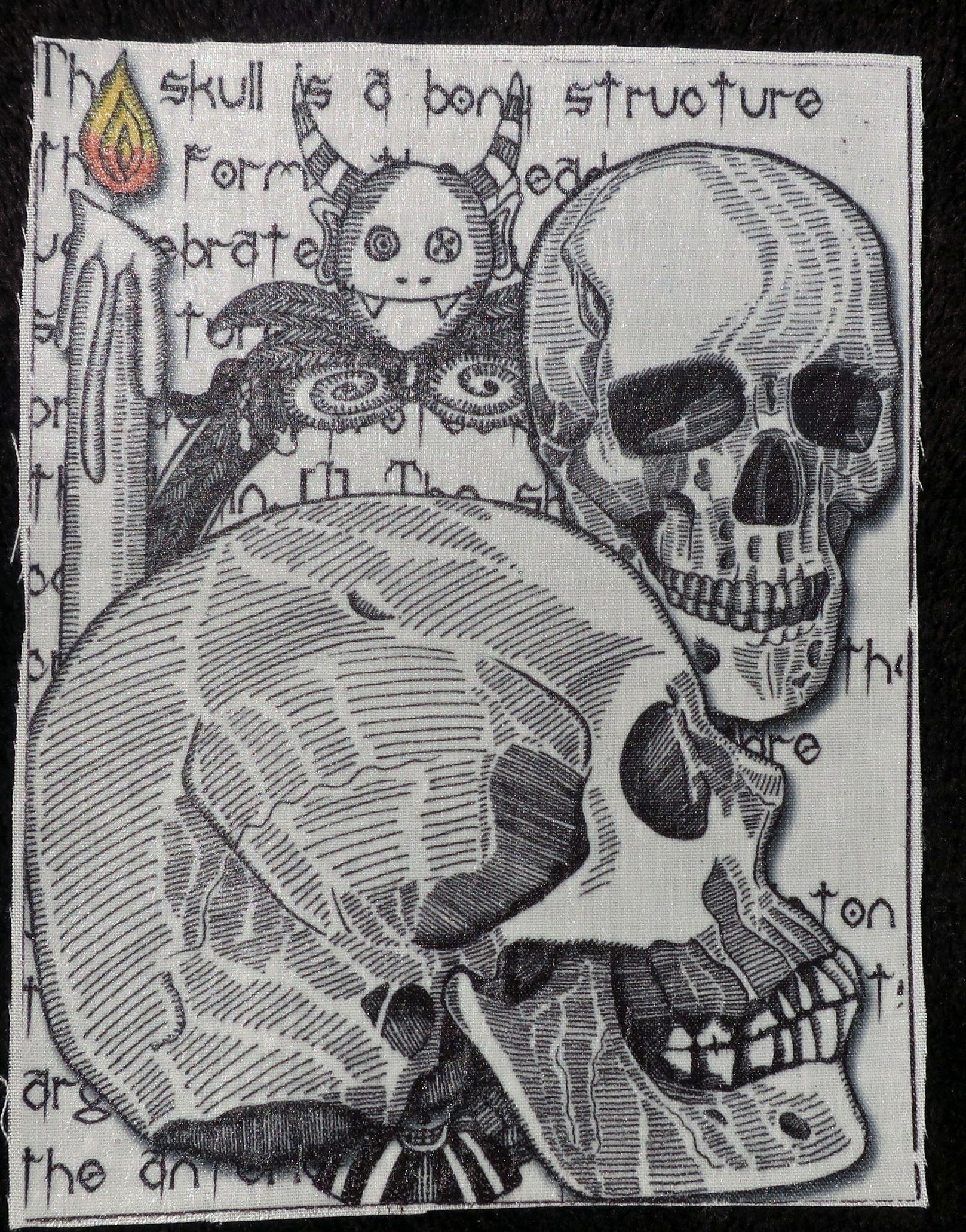 Skulls fabric patch