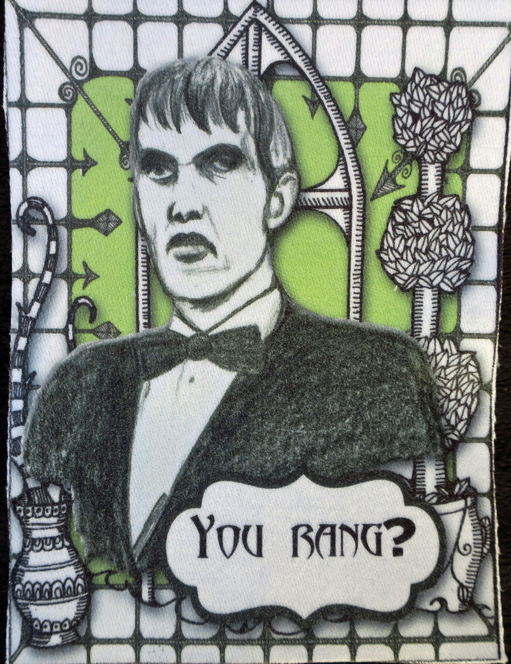 addams family lurch you rang fabric patch