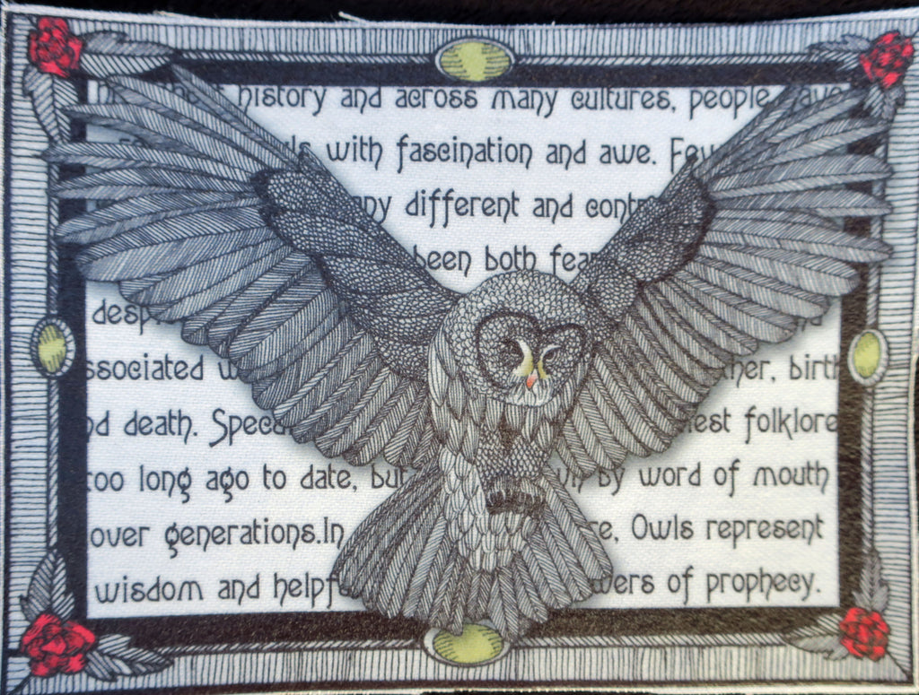 Owl fabric patch