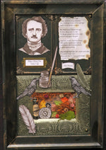 Load image into Gallery viewer, Edgar Allan Poe Shadowbox with The Dream poem
