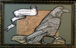 Load image into Gallery viewer, Two Ravens Framed Original Illustration