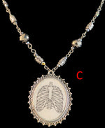 Load image into Gallery viewer, Human Ribs Pendant Necklace