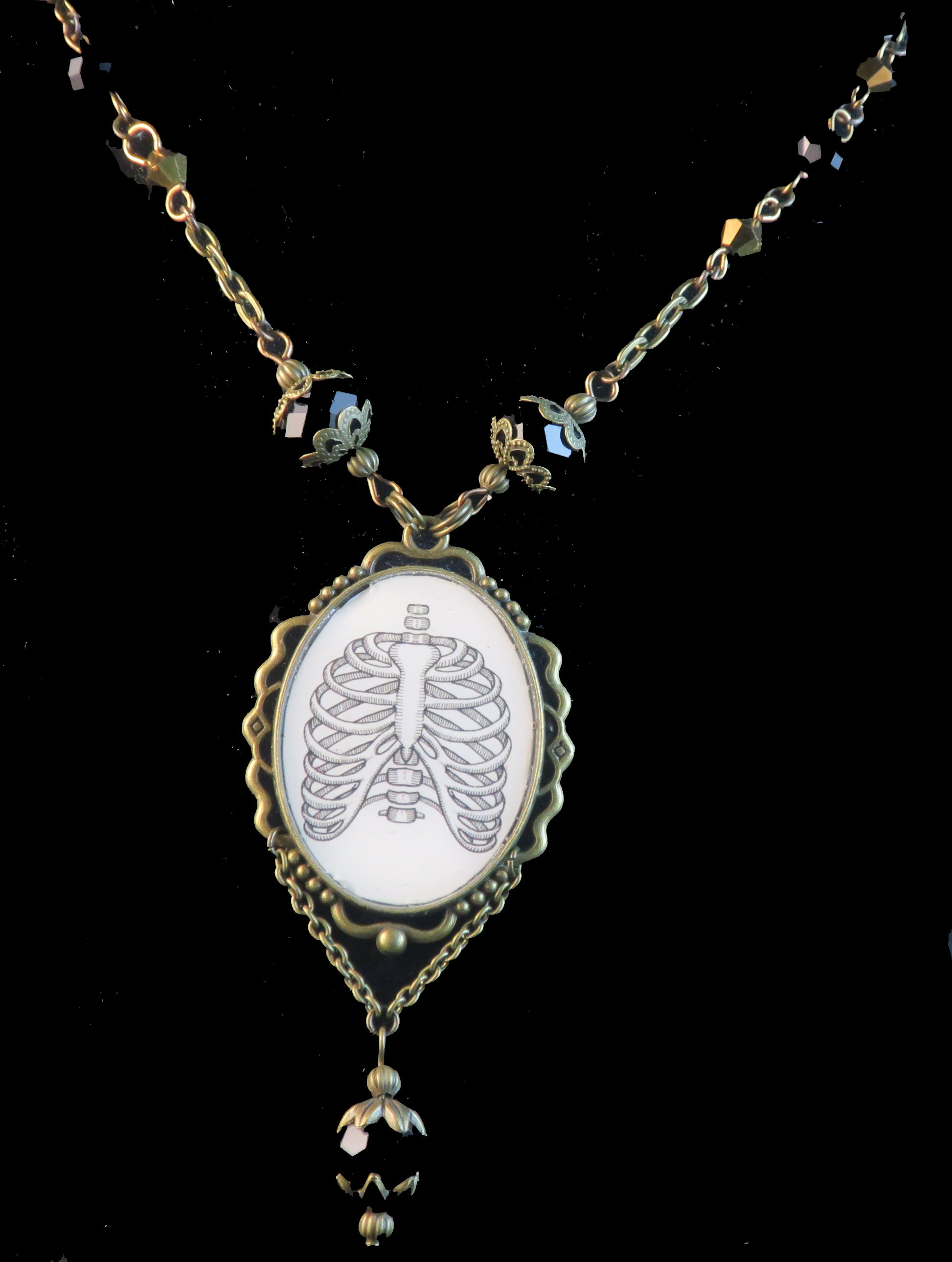 Human Ribs Pendant Necklace
