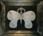 Load image into Gallery viewer, Flying sharp scissors sharp objects with moth wings