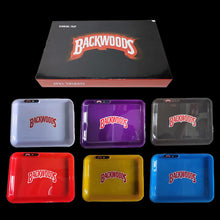 Load image into Gallery viewer, LED Plastic Rolling Tray Backwoods