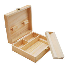 Load image into Gallery viewer, 150mm Wooden Stash Box With Rolling Tray