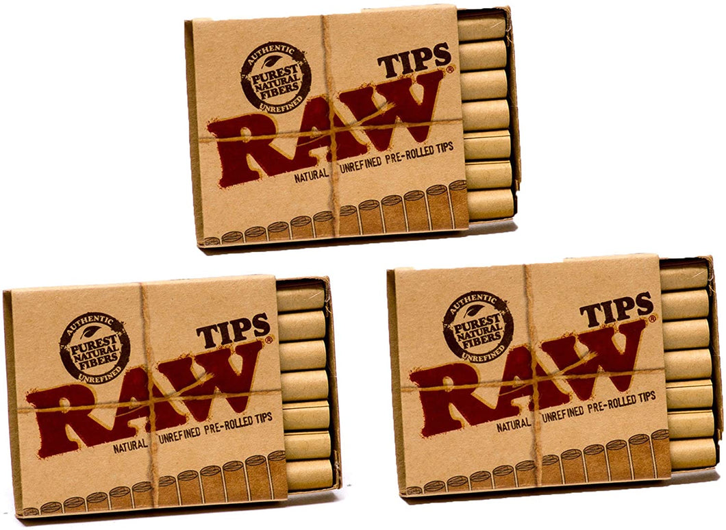3pack RAW Pre-Rolled Tips (21ct)