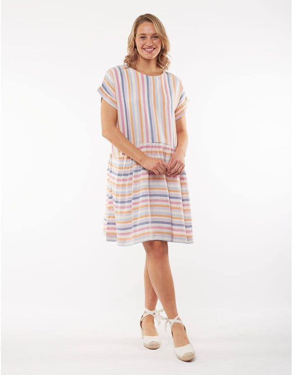 ELM SUNSET STRIPE DRESS