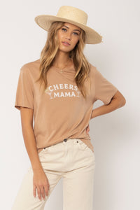 AMUSE SOCIETY CHEERS MAMA KNIT TEE