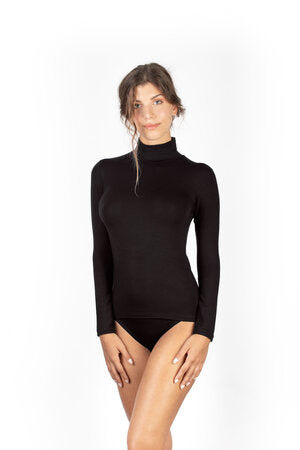 SUSAN BROWN MICROMORODAL TURTLE NECK TOP
