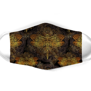 DRAGONFLY CLASSICAL PATTERN FACE MASK