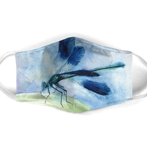BLUE DRAGONFLY FACE MASK 01
