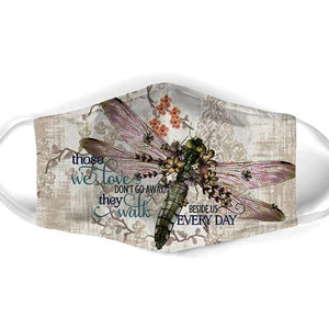 FLORAL DRAGONFLY FACE MASK 02