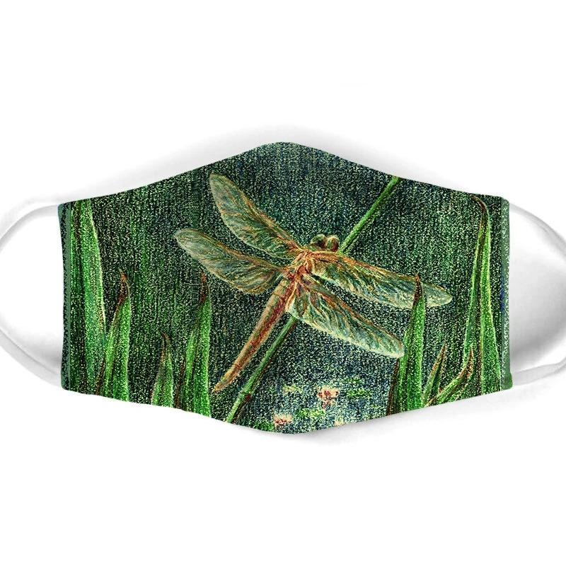 TROPICAL DRAGONFLY FACE MASK