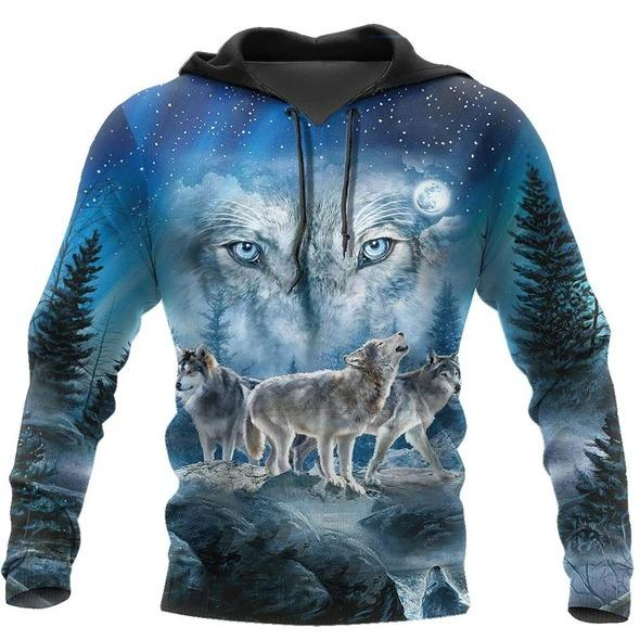 Native Wolf 3D All Over Print Hoodie For Men and Women NTN09052001