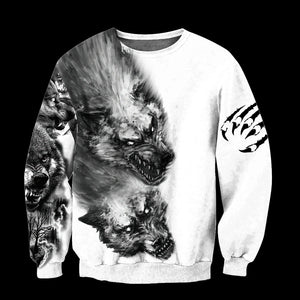 TH Tattoo Wolf 3D All Over Printed Hoodie For Men and Women MH2310202ST