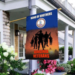 Load image into Gallery viewer, Band Of Brothers Virginia Veterans Garden and House Flag