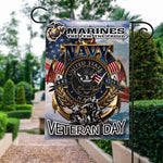 Load image into Gallery viewer, Veteran Marines US Garden and House Flag