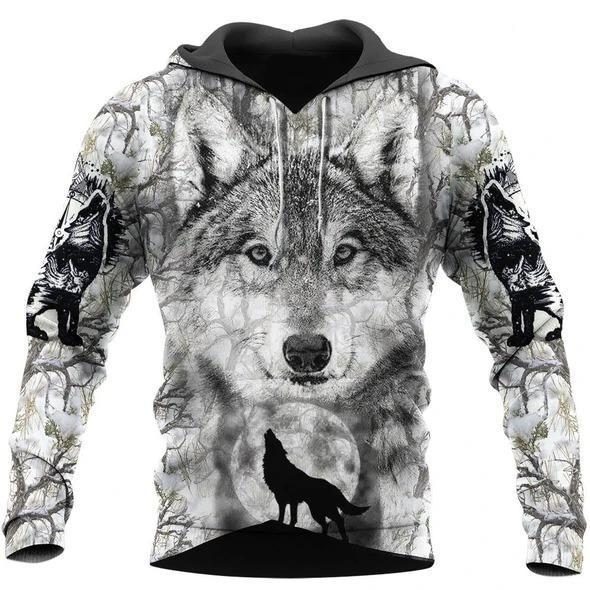 Wolf Hoodie T Shirt For Men and Women NM17042001