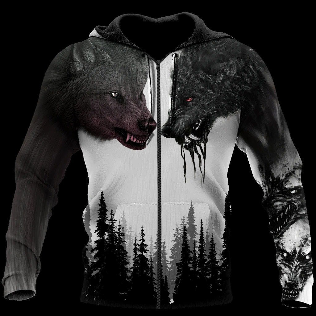 TH The Wolf 3D All Over Printed Hoodie For Men and Women MH2410202ST
