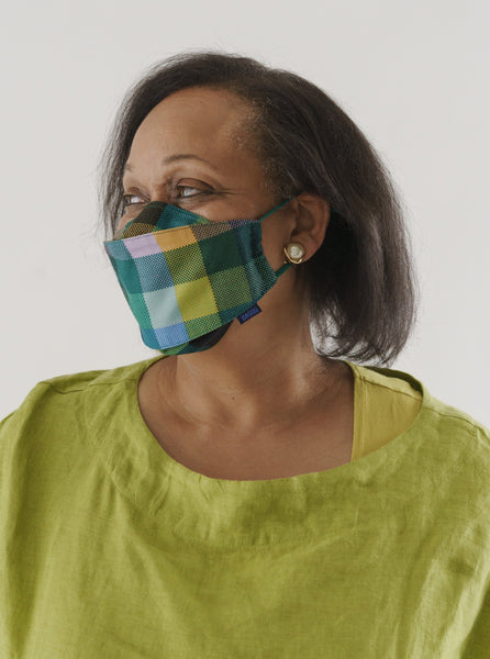 Madras Fabric Mask Set