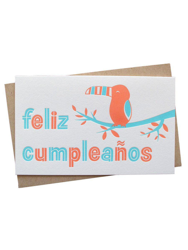 Spanish Toucan Birthday Card