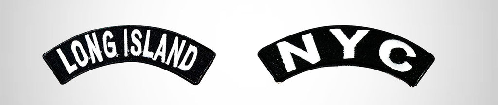 State & City Name Rocker Patches