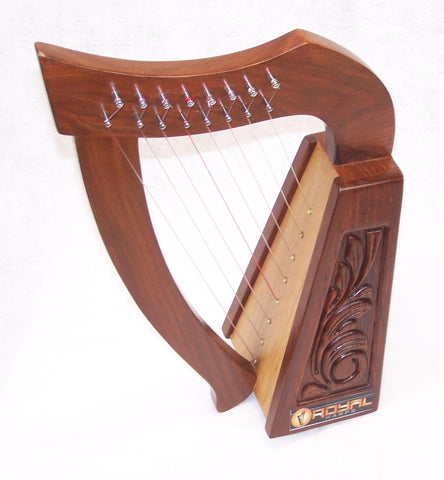 Mini Rosewood Harp 8 strings for Children with Bag Tuning key and extra Strings hand made