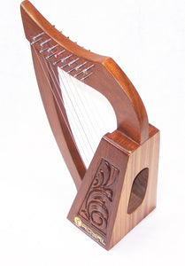 19inch Tall 8 string Lily Celtic Harp for Children New Carrying case and extra strings-STURGIS MIDWEST INC.
