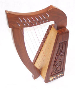 Mini Rosewood Harp 8 strings for Children with Bag Tuning key and extra Strings hand made-STURGIS MIDWEST INC.