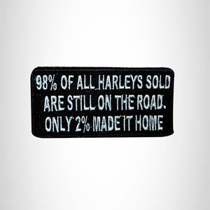 Small Patch 98% of all Harleys Iron on for Vest Jacket SB569