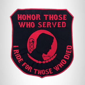 Honor Those Who Served Iron on Center Patch for Biker Vest CP175