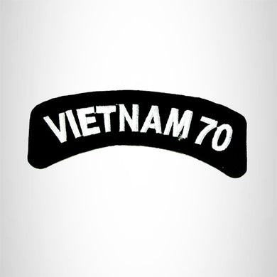 Vietnam 70 American Veterans Small Military rocker style military patche