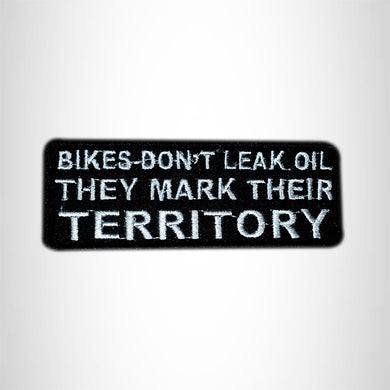 Bikes parked out front mean good Iron on Small Patch for Biker Vest SB961