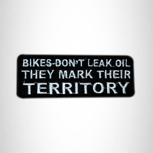 BIKES DON'T LEAK Small Patch Iron on for Vest Jacket SB579