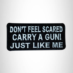 DON'T FEEL SCARED Small Patch Iron on for Vest Jacket SB581