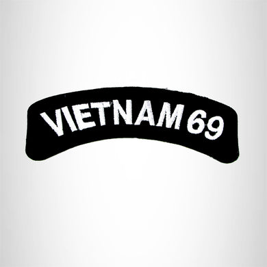 Vietnam 69 American Veterans Small Military Rocker Patch