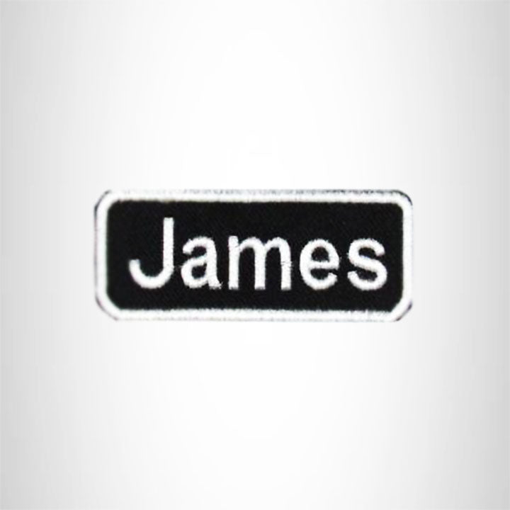 James Iron on Name Tag Patch for Motorcycle Biker Jacket and Vest NB167