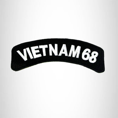 Vietnam 68 Vet American Veterans Small Military Rocker Patch