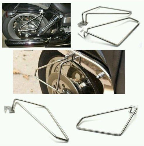 Motorcycle saddlebags brackets for harley sportster low and super low