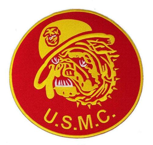 US MARINES CORPS MARINED BULL DOG MASCOT LARGE PATCH FOR VEST JACKET NEW-STURGIS MIDWEST INC.