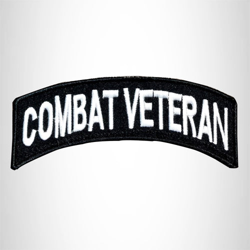 Combat Veteran Patch Bottom Rocker Embroidered Patches for Vest Jacket