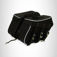 Load image into Gallery viewer, Motorcycle Genuine Cowhide Leather Saddlebags Set Detachable  Studded