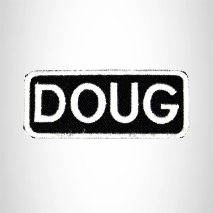 Doug Iron on Name Tag Patch for Motorcycle Biker Jacket and Vest NB155