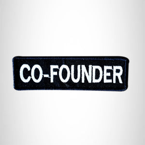 CO-FOUNDER Small Patch Iron on for Vest Jacket SB607