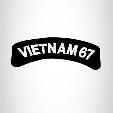 Vietnam 67 Vet American Veterans Small Military Rocker Patch