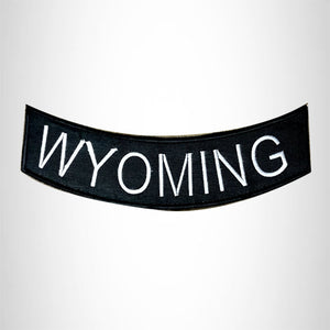 WYOMING Bottom Rocker Iron on Patch for Biker Vest BR440